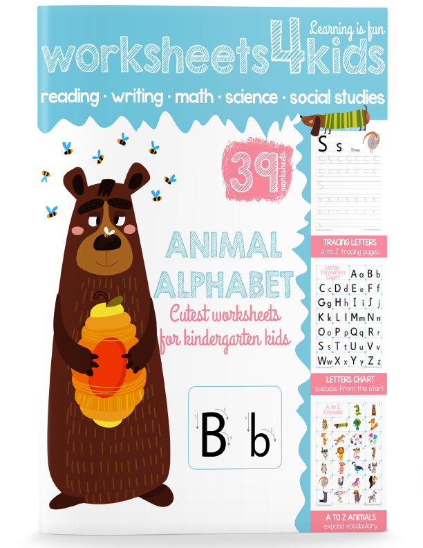 Traceable Letters and Numbers - Free Worksheets for Kids