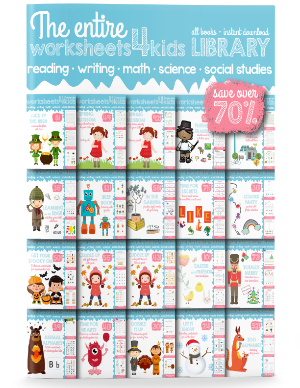The Entire Worksheets4kids Library - Free Worksheets for Kids