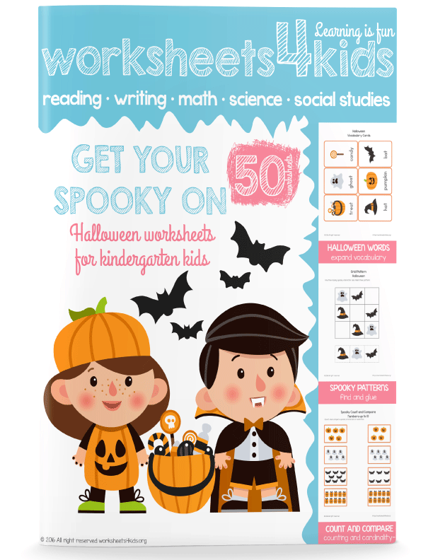 Get Your Spooky On - Halloween Worksheets - Free Worksheets for Kids