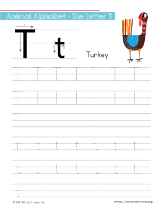 how to write the letter t