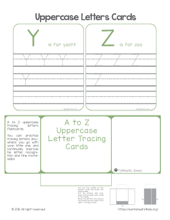 printable letter tracing