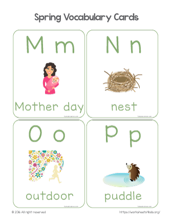 spring vocabulary words