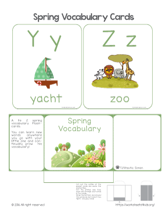 vocabulary spring