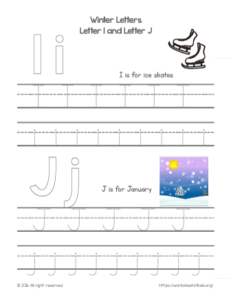 traceable letters for kids