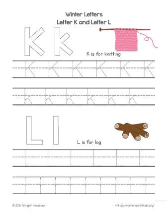 traceable letters for kindergarten