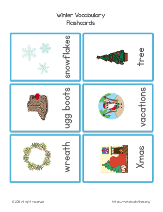 christmas vocabulary word list
