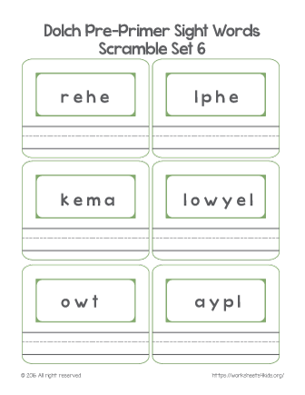 sight word activities for preschoolers