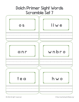 kindergarten sight words pdf
