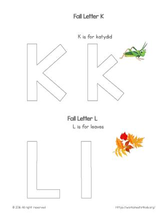 coloring letter k
