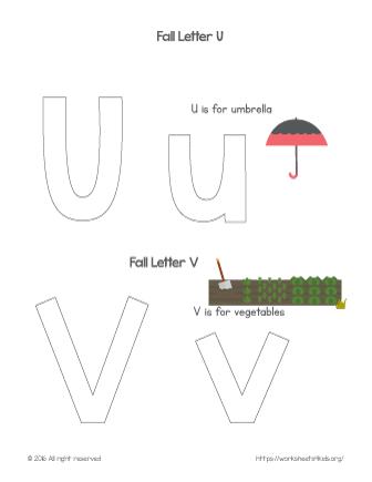 coloring letter u
