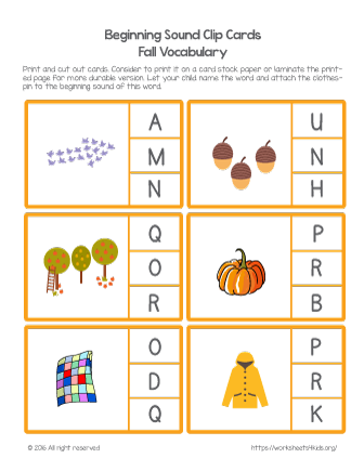 beginning letter sounds kindergarten