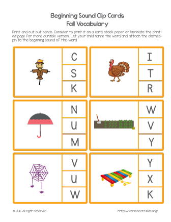 beginning letter sounds worksheet
