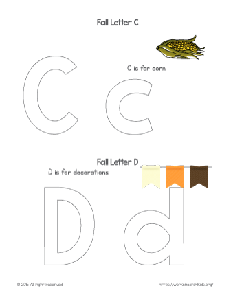 Coloring Letter C