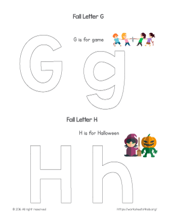 coloring letter g