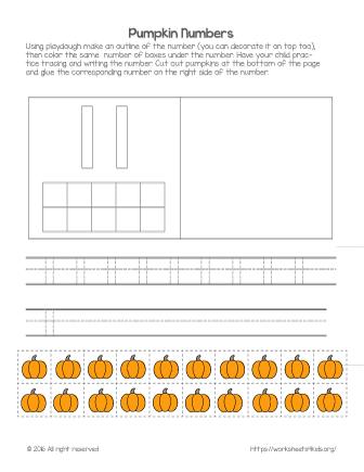 number 11 worksheet