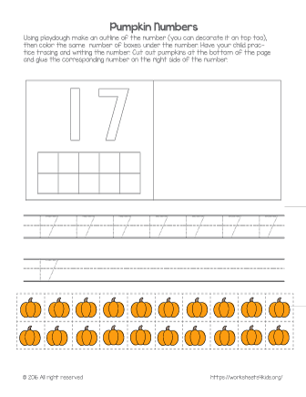 number 17 worksheet