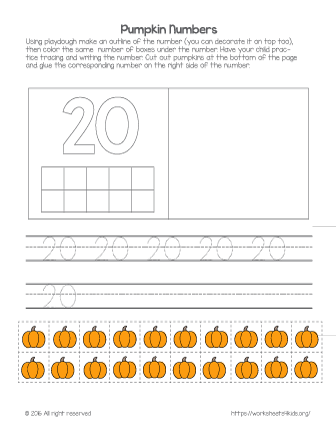 number 20 worksheet